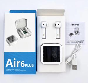 Air6 Além disso Solar in-Ear Waterproof exibição 260mAh Carregador Power Box TWS sem fio Fones de ouvido Fone de ouvido Headset para Xiaomi Xiao Mi