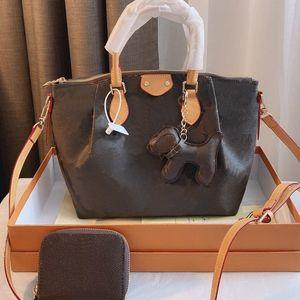 Sac à main sac carré chien pendentif sac sac à bandoulière mode classique lettre véritable cuir haute capacité haute qualité haute qualité