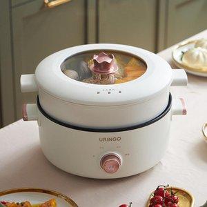MultiCooker Steamer panela não-vara quente cozinhar potenciômetro de macarrão divisão sopa de ebulição fumegante para eletrodomésticos de escola de escola