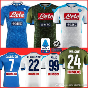 NCAA 6 Thai Naples Napoli Soccer Jersey H.LOZANO MERTENS HAMSIK PLAYER INSIGNE CALLEJON top quality Camiseta de futebol