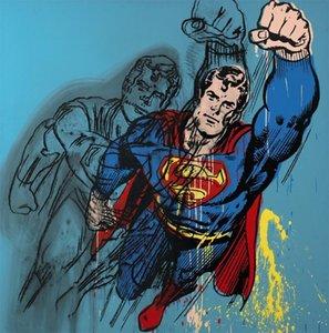Große Andy Warhol Superman Giclee Home Decor Handkräfte / HD Drucken Ölgemälde auf Leinwand Wandkunst Leinwandbilder, F2101025