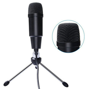 New C-330 USB Microphone Condenser Professional Wired Studio Karaoke Mic for Computer Pc Video Recording Msn with Stand Tripod