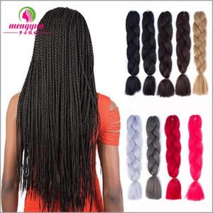 Japan Kaufen Sie monochrome Farbe Pigtail Perücke Haare Twist schwarz schmutzig geflochten