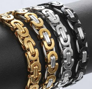 Chains Stainless Men Steel Byzantine Mens Gold Gift Jewelry Bracelets Bracelet Fashion Silver 6 8 11mm Tone For sqcYO lihuibusiness