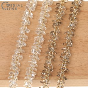 Cordial Design Jewelry Accessories Hand Made Genuine Gold Plating Cubic Zirconia Jewelry Findings & Component DIY Necklace Chain F1204