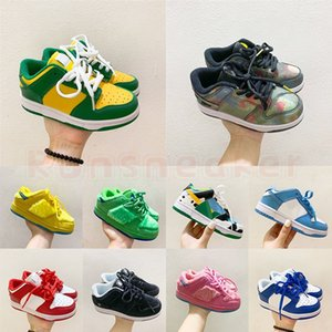 2021 SB 키즈 트레이너 브라질 덩크 UNC 열 이미징 곰 유아 유아 소년 소녀 야외 스포츠 Dunky Sneakers 낮은 농구 신발