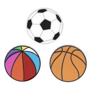 Cartoon Sporting goods Brooch Pins Football Basketball Funny Creativity Alloy Paint Enamel Brooches for Christmas Gift Badges Bag Shirt Pin