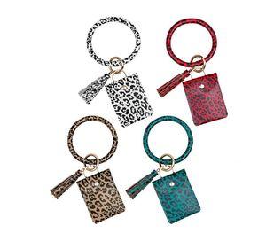 Coin Purse Bracelet Key Chain Pu Tassel Leather Crocodile Pattern Card Bag Wrist Key Ring Bracelet Pendant For Women