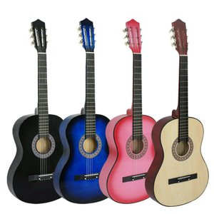 """38"""" Beginners Acoustic Guitar With Guitar Case, Strap, Tuner and Pick Wooden"""