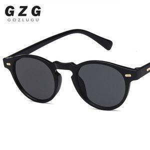 Marke Retro kleine ovale grüne Vintage Womens Leopard Dark Spiegel Linsenrahmen Goklugu Shades Sunglasses Designer SDJGE