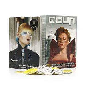 Full English version Coup board game basic + reformation for home party fun Entertainment Strategy card game Y200421