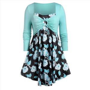 5XL Plus Size Womens Tunic Shirt Floral Print Womens Clothing Long Sleeve Tops and Blouses Fashion Chiffon Blouse blusa