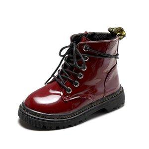 SKOEX NUEVO 2020 Girls Boots de cuero Botas para niños Spring Otoño PU Botas para niños Fashion Toddler niños Cálido Invierno Bootx1024