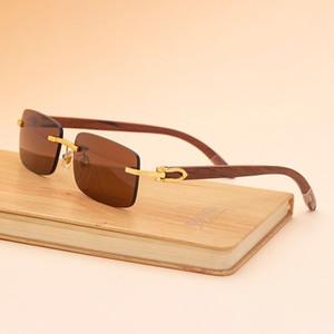 2020 NOUVEAU Lunettes de soleil Sport de la mode pour hommes Femmes Femmes Sunglasses en bois de bambou en Bamboo avec boîtes Lunettes Gafas