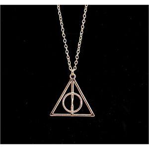 100pcs Harry Book The Deathly Hallows Necklace Antique Silver Bronze Gold Deathly Hallows Pendants Potter Fashio sqcuBU dh_seller2010