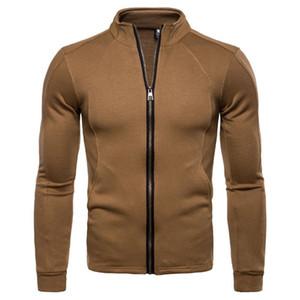 New Autumn Men Sweatshirt Coat Jacket Zippers Loose Knitted Sweatshirt British Style Cardigan Male Outerwear Europe US Size