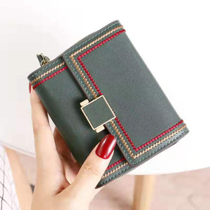Hot Sale New Genuine leather short style women designer wallets lady fashion casual cow leather zero purses female clutchs with card