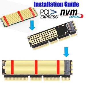 M.2 NVME SSD NGFF a PCIE X16 / X8 / X4 Adaptador M Tarjeta de interfaz de tecla Support PCI Express 3.0 x16 / x8 / x4 2230-2280 Tamaño
