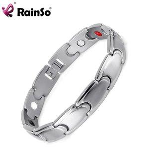 Rainso Bio Energy Magnetic Armband 316L Edelstahl Gesundheitspflege Elemente Frauen Armbänder Armreif