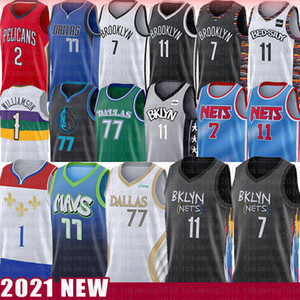 Kevin Zion Durant Kyrie 11 Williamson Luka Irving 77 Doncic Basketball Jersey New Brooklyn