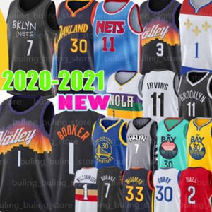 Devin 1 Booker Jersey Zion Chris Kyrie Paul Williamson Stephen Kevin Irving Durant Currant Brooklyn