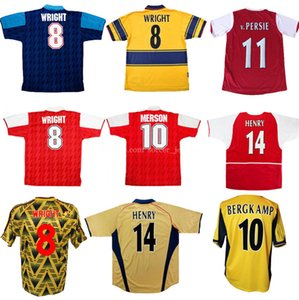 Henry Retro Soccer Jerseys 98 99 83 86 95 2002 2003 91 93 94 97 2000 2002 2006 1995 UHMHF Classic Vintage Wright Fabregas Arsen Ljungberg Vieira Bergkamp Camicia da calcio