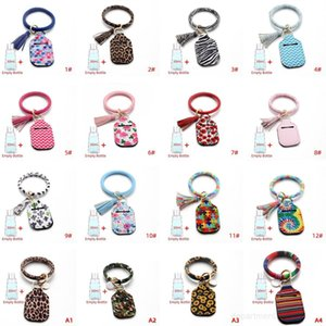 Neoprene Sanitizer Keychain Bags 30ML 10*6cm Key Rings Hand Soap Holder With Empty Bottle OWA1810
