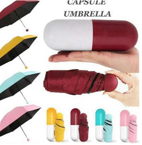 Mini Pocket Size Umbrella Foldable Windproof Rainy Sunny Umbrella Windproof Gift Rain Pocket Umbrella Rain Pocket Rain Gear EWC3810