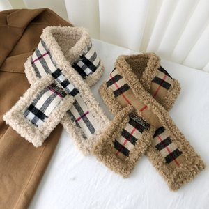 Fashion Scarf Women Autumn and Winter Lamb Wool women's Warm Check Letter Striped Design Keep Warm Collar Soft Scarves