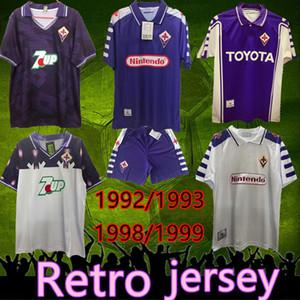 Ретро Джерси 1992 1993 Fiorentina Soccer Trackys Batistuta Rui Costa Custom Vintage 1998 1999 Fiorentina Футбольная футболка CamiSas de Futebol