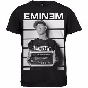 Camicia casual casual da uomo a buon mercato Eminem Mugshot Lanshitina Designer esclusivi T Shirt uomo Grafica con cappuccio