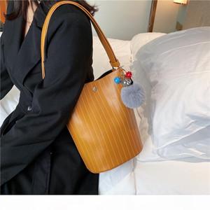 I Do Western Goddess Bucket Bag Female 2020 New Fashion All-match Broadband Shoulder Bag Textured Mother and Child Messenger Bag