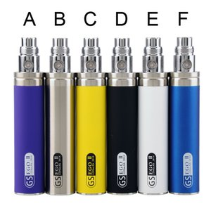 Authentic GS eGo II 2200mAh Battery E Cigarettes Kgo One Week Evod Twist II Vision 2 Battery for Ego CE4 T3S MT3 Atomizers Vape Pen