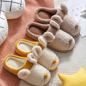 Kadın Pamuk Terlik Sevimli Fare Çift Artı Boyutu Kapalı Terlik Kadın Ev Flats Ayakkabı Kaymaz Yatak Odası Rahat Ayakkabı # UF9D