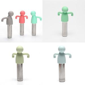 Humanoide Stetrante de té de acero inoxidable Puro Color de silicona Filtro Filtro Fabricante Encantador Práctico Práctico Venta caliente 5 3hy J2