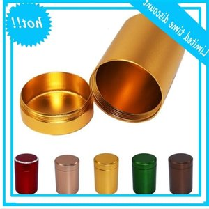 XXXL Metal Round Pill Box Holder Advantageous Container Storage Case Waterproof Tobacco Tea Stash Double open 5 colors