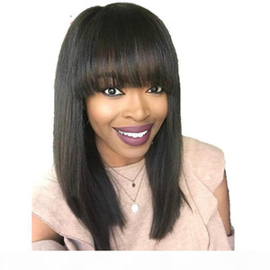 Human Hair Bob Wig With Bang Short Bob Cut Glueless Lacefront Wigs For Black Women Pre Plucked Full Lace Front Wigs With Bangs