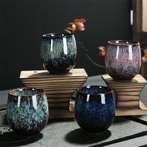 100% New Brand Ceramic 150ml China Tea Cup Kiln Change Ceramic Home Tea Cup Creative Ceramic Cup Home Gift 17 N2
