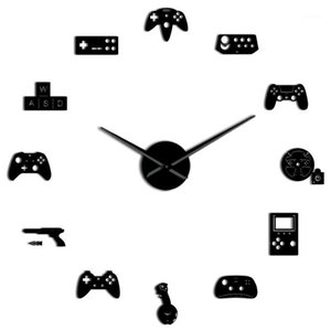 NHBR-Game Controller Vídeo DIY Gigante relógio de parede jogo Joysticks adesivos Gamer Wall Art Video Gaming Signs Boy Quarto Game Room1