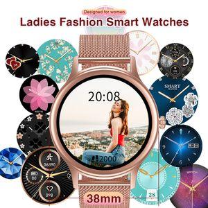 Fertigen Sie besonders an Wahl Smart-Uhr mit Puls-Gesundheitsmanagement Smartwatch für Nachrichten Frauen Erinnerung WhatsApp Facebook
