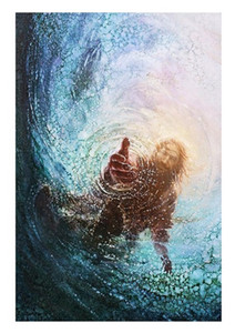 5 Yongsung Kim HAND OF GOD SAVE ME Art HD Cavnas Print of Jesus Christ High Quality Home Decor Wall art oil painting On canvas