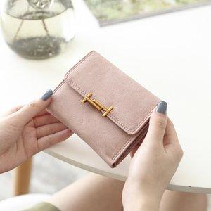Women Hot Bags Women Fashion Solds Cute Wallet Short Folding Multi-functional Luxurys Holders Card 2020 Designers Tide Backpack Purse R Brwo