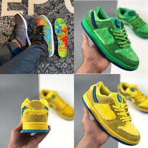 New Top Low SB SP civilistas Travis Sports Shoes Scotts Dunk SB comunidade de baixa Garden Lemon Wash Medicom Toy Stussy cereja Strangelove instrutor