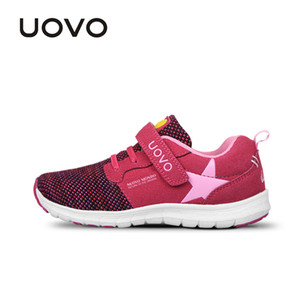 UOVO Spring Kids Fashion Breathable Mesh Children Sneakers For Boys And Girls Sport Running Shoes Size #27-37 201203