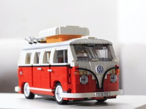 21001 Volkswagen T1 Camper Van Creator Expert Compatible with 10220 21001 Building Blocks Bricks Classic Cars Model toys gifts