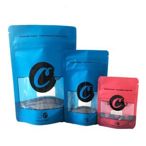 새로운 쿠키 Mylar 가방 캘리포니아 SF 8th 식용 420 마른 허브 꽃 포장 쿠키 3.5 Resealable 냄새 증거 플라스틱 마일러 가방
