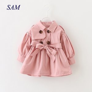 Baby Coats Newborn Baby Girl Clothes Autumn Bow Coat Infant Clothes For Children Outwear Baby Girls Fashion Winter Clothing 201106