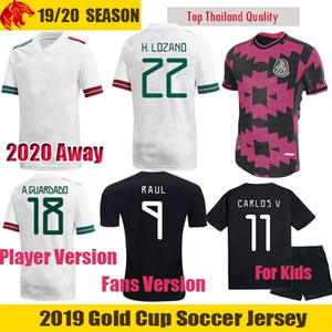 NCAA 19 20 21 Mexico Jersey RAUL Mexico 2020 Away Kit Fans & Player Version CHICHARITO Soccer Jerseys CARLOS V H.LOZANO Football Shirt