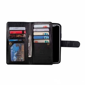 Luxury Flip PU Leather Wallet 2 in 1 Phone Case For iPhone X XS Magnet Removable Retro Ultra Slim Cover for iphone xs max 7 8 6s 6 plus