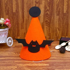 2020 New Trend Ghost Festival Cosplay Felt Cloth Halloween Hat Children Sticky Handmade Gift Bat Pumpkin